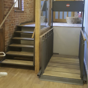 Lift and Stairs All In One Wooden Effect