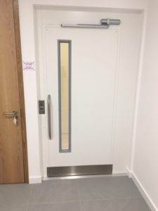 Extremely Compact Platform Lift with door closed