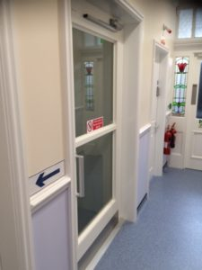 Extremely Compact Platform Lift at Standish Dental