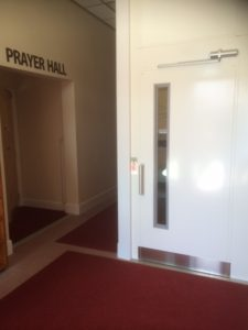 Extremely Compact Platform Lift next to prayer room